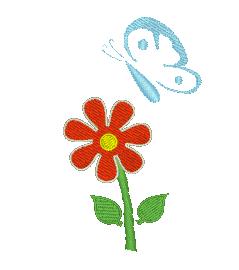 Schmetterling mit Blume2