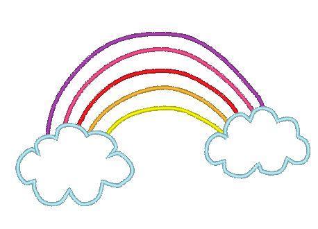 Stickdatei Regenbogen